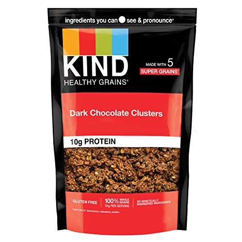 KIND Healthy Grains Clusters, Dark Chocolate Granola, Gluten Fre...