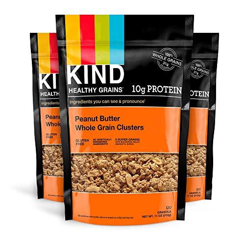 KIND Healthy Grains Clusters, Peanut Butter Whole Grain Granola,...
