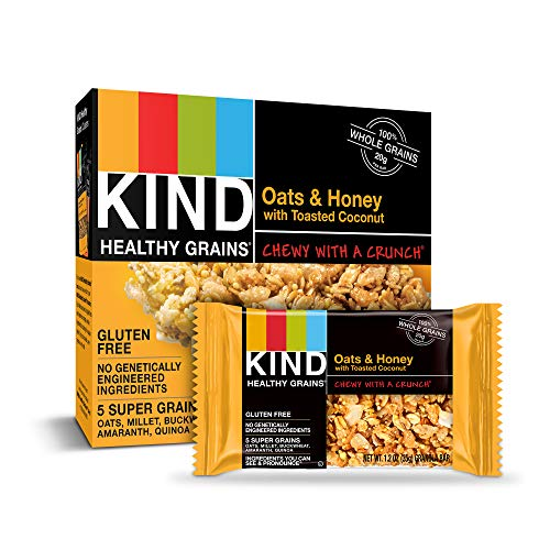KIND Healthy Grains Granola Bars, Oats & Honey with Toasted Coco...