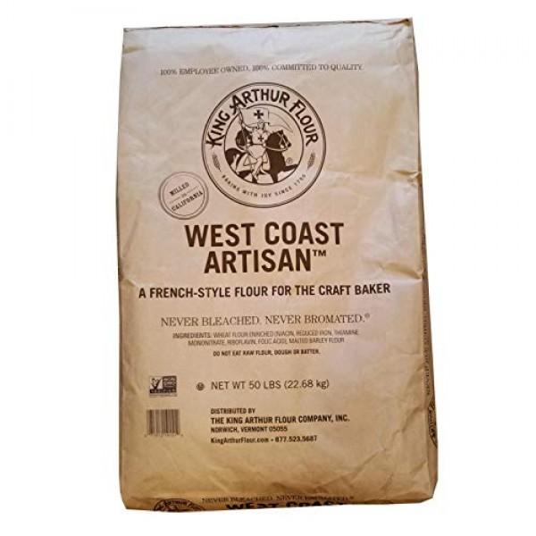 50 LB King Arthur West Coast Artisan | French Style Flour For th...