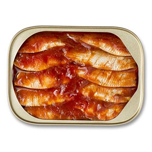 King Oscar Wild Caught Sardines Zesty Tomato, 3.75 Ounce Pack o...