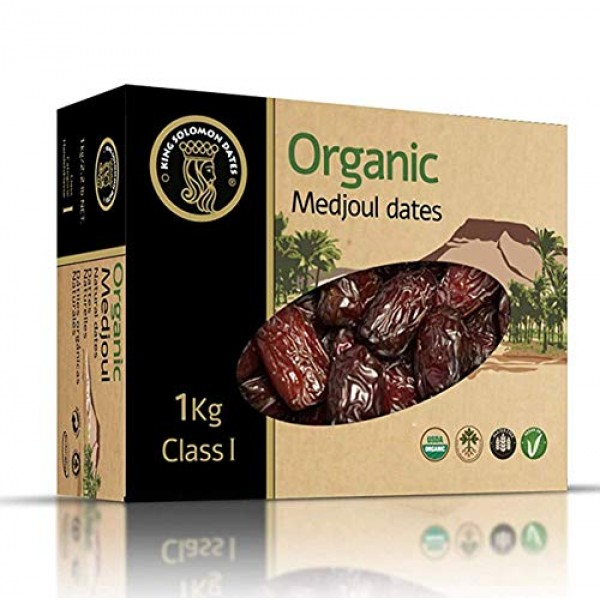 King Solomon 100% Organic Premium Medjoul Medjool Dates, 2.2lbs