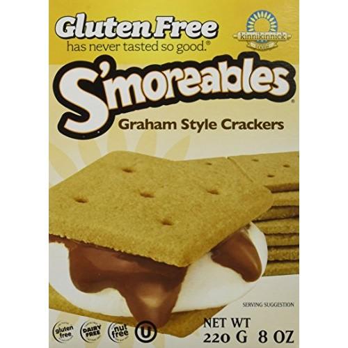 Kinnikinnick Smoreable Graham Cracker 8 OZ Pack of 3
