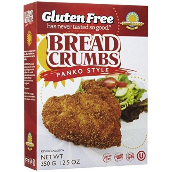 Kinnikinnick Panko Bread Crumbs, 12.5 oz Pack of 3