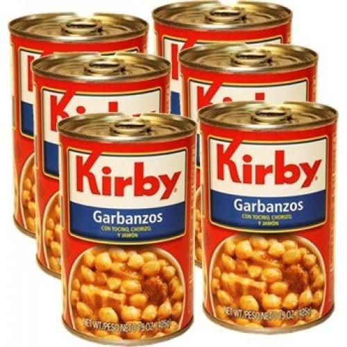 Kirby Garbanzos 6 cans pack, 15 oz each
