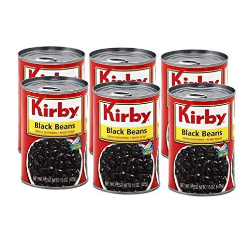 Kirby Ready to Eat Black Beans 15oz 6 Pack Frijoles Negros - C...