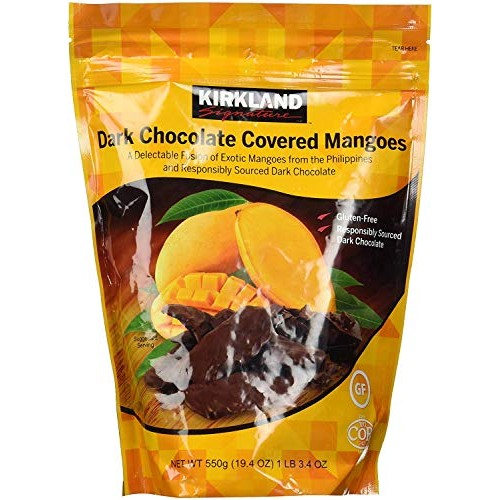 Kirkland Signature Dark Chocolate Covered Mangoes,19.4 Oz