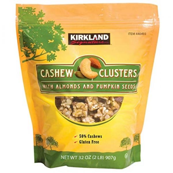 Kirkland Cashew Clusters with Almonds and Pumpkin Seeds Gluten F...