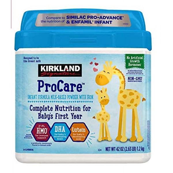 Kirkland Signature Procare Infant Formula - Non-GMO - 42 oz 2.6...