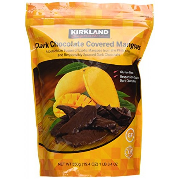 Kirkland Dark Chocolate Covered Mangoes 19.4 oz. Pack of 2
