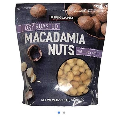 Kirkland Dry Roasted Macadamia Nuts with Sea Salt 680g 1.5 LB