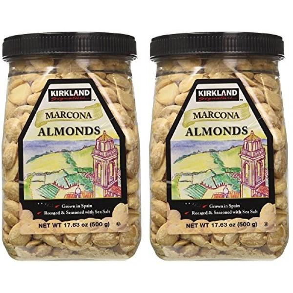 Kirkland eSybYD Marcona Almonds, Roasted and Seasoned with Sea S...
