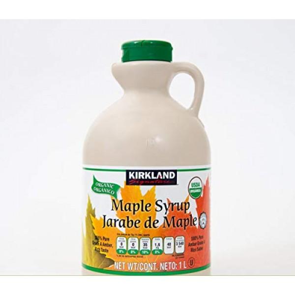Kirkland Signature 100% Maple Syrup, Dark Amber, 33.8 fl. oz.