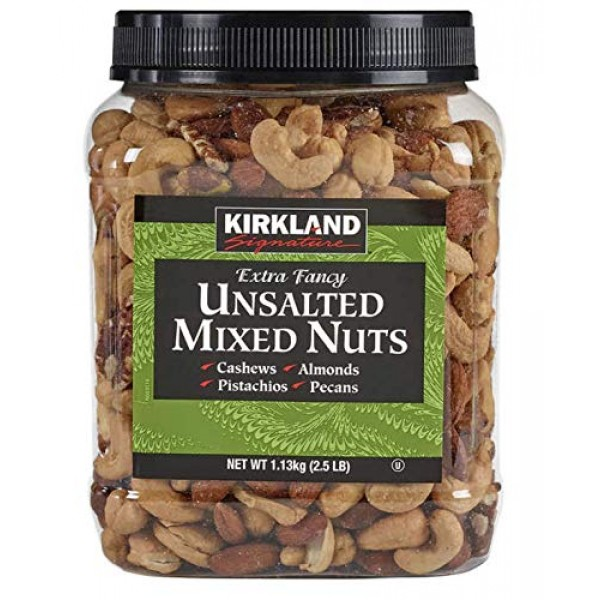 Kirkland Signature Extra Fancy Unsalted Mixed Nuts 2.5 Lbs.