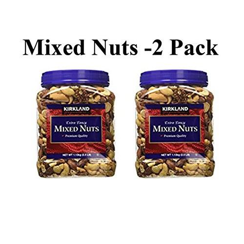 Kirkland Signature Extra Fancy Mixed Nuts: 2 Jars of 40 Oz