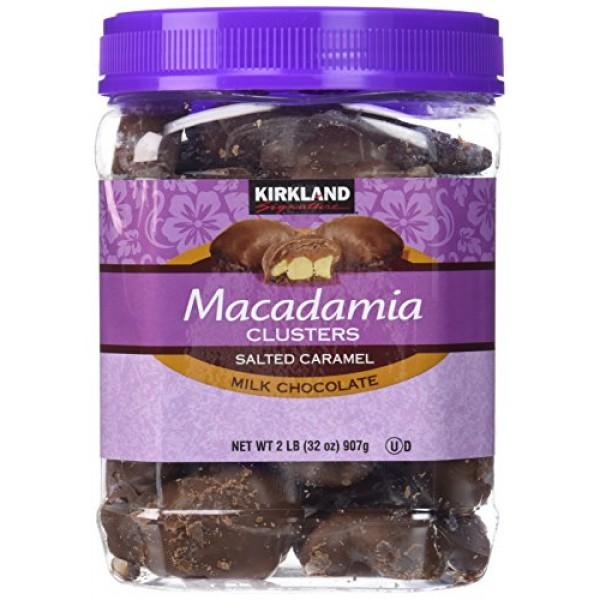 Kirkland Signature Macadamia Clusters Salted Caramel Milk Chocol...