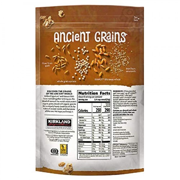 Kirkland Signature Natures Path Organic Ancient Grain Probiotic...