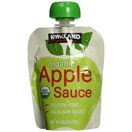 Kirkland Signature - Organic Applesauce - 24 Pouches Pack of 2
