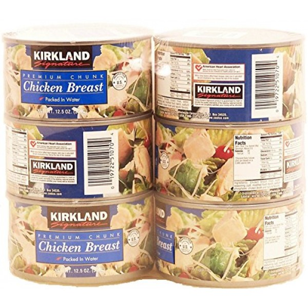 Kirkland Signature Premium Chunk Chicken Breast Packed in Water,...