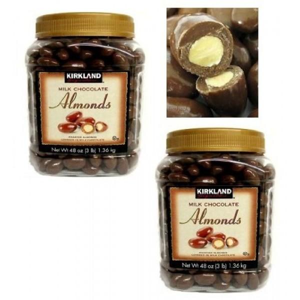 Twin Pack Kirkland Signature Milk Chocolate Almonds Roasted Almo...
