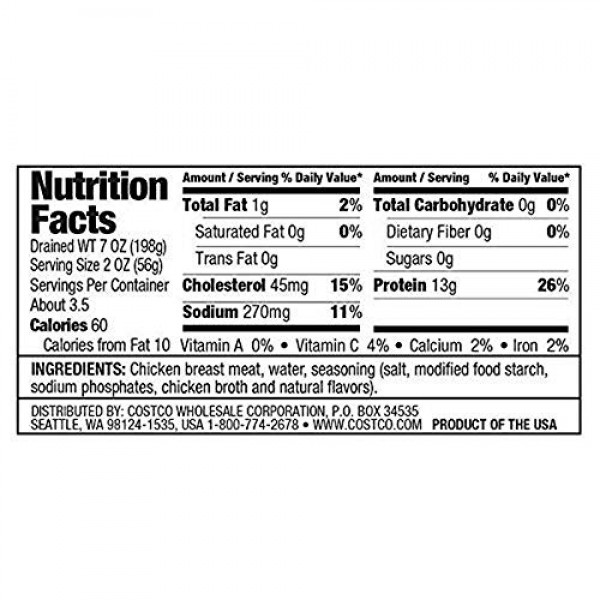 2 Pack Kirkland Signature Chicken Breast, 12.5 oz, 6-count 2 pack