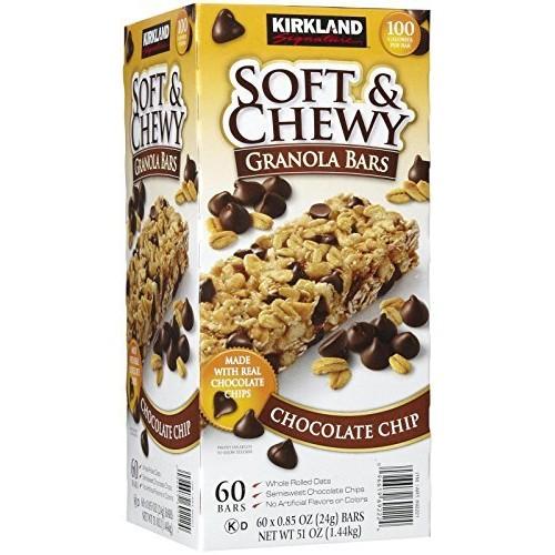 Kirkland Chewy Granola Bars Chocolate Chip, 60 ct Net WT 60 X 0....