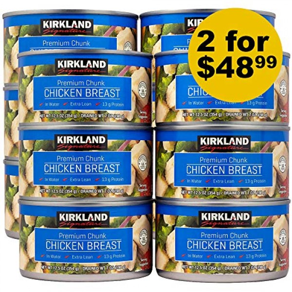 Kirkland Signature Chicken Breast, 12.5 oz - 6 count Pack of 2...