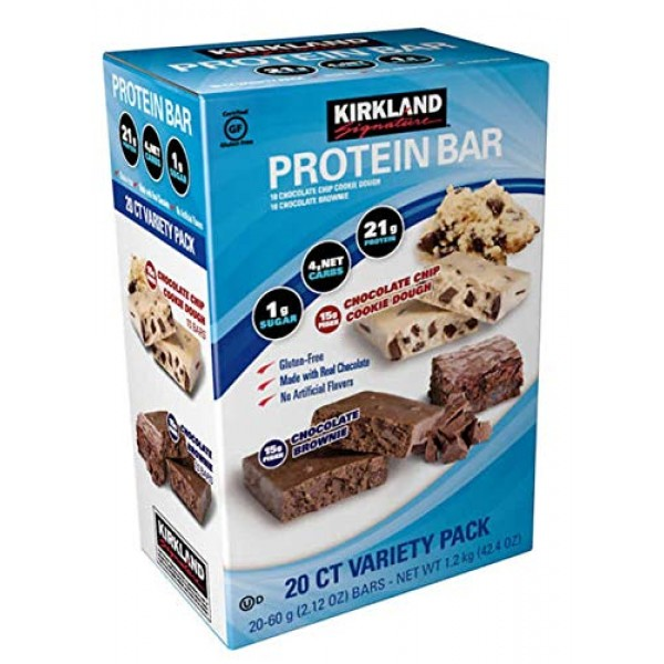 Kirkland | Signature Variety Protein Bars 20 count | 21G Of Prot...