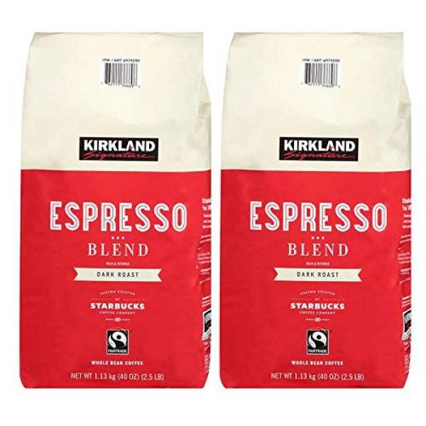 Kirkland Signature Whole Bean Coffee | Roasted by Starbucks | 40...