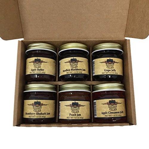 Kitchen Kettle Village Jam Sampler Amish Made 6-pack Variety S...