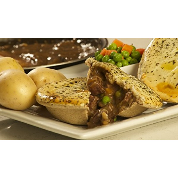 All Natural New Zealand Style Roast Lamb Meat Pies - 1 Dozen Ro...