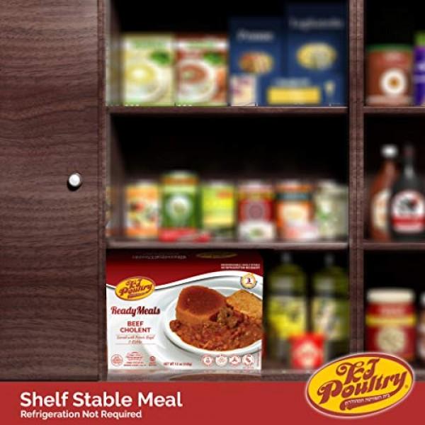 Kosher MRE Meat Meals Ready to Eat, Beef Cholent & Kugel 3 Pack...