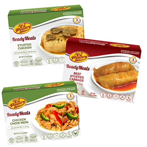 Kosher Mre Meat Meals Ready to Eat, Variety of Stuffed Chicken B...