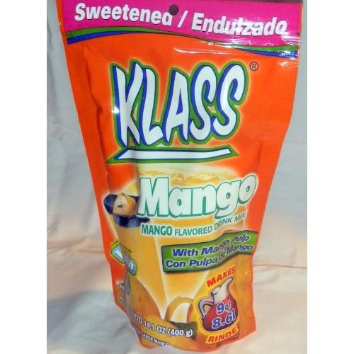 Klass Drink Mix Mango Flavor Aguas Frescas Makes 9QT From Mexico