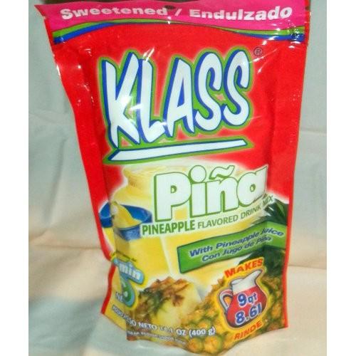 Klass Drink Mix Pina - Pineapple Flavor Aguas Frescas Makes 9QT ...
