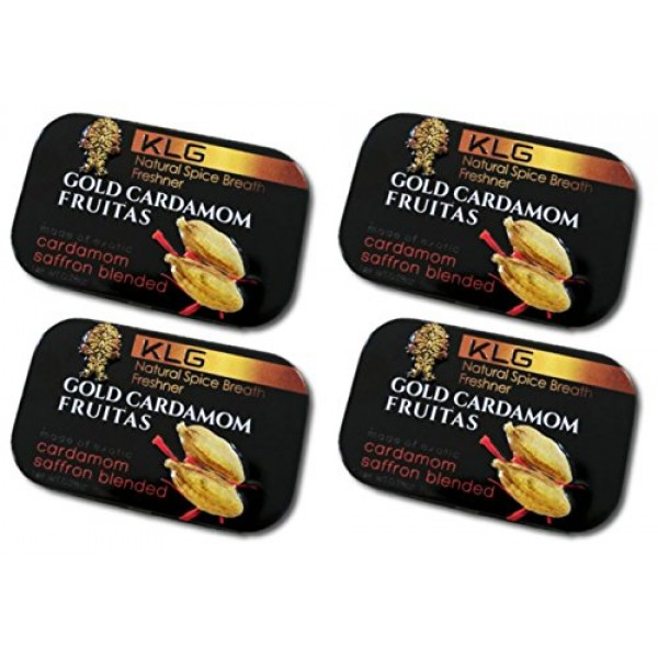 4pk Gold Cardamom Fruitas Natural Spice Breath Freshener with Ca...
