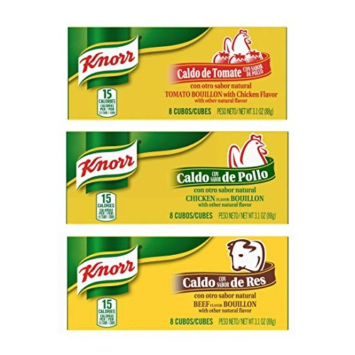 Knorr Bouillon Cubes 8 Count Box Variety Pack - Chicken, Beef an...