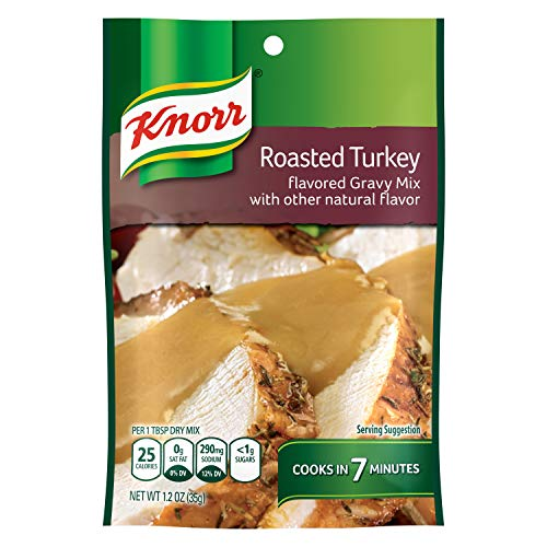 Knorr Gravy Mix, Roasted Turkey 1.2 oz Pack of 24