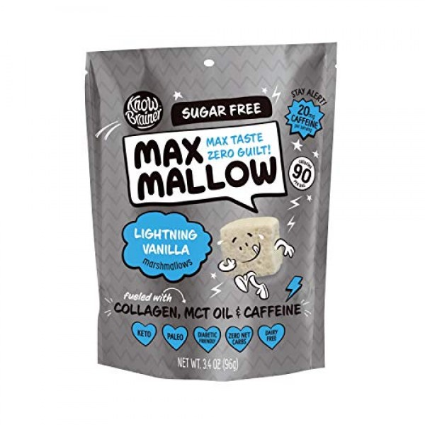 Know Brainer Max Mallow Lightning Vanilla   Guilt-Free & Zero Su...