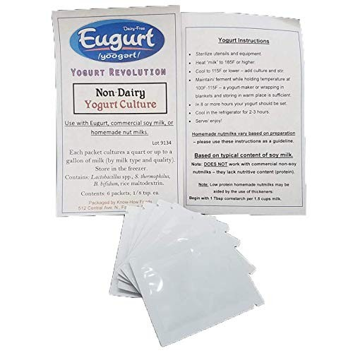 Greek Non-Dairy Yogurt Kit (culture and cheesecloth) - For Use w...
