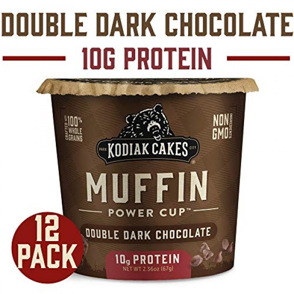 Kodiak Cakes Minute Muffins, Double Dark Chocolate, 2.36 Ounce ...