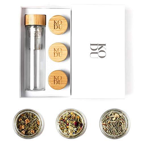 Kodu Glass Tea Infuser Bottle & Premium Tea Sampler | MenageATea...