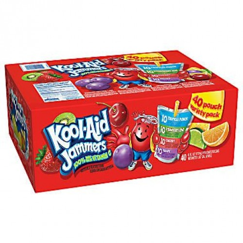Kool-Aid Jammers Variety Pack 40 pouches. pack of 3 A1