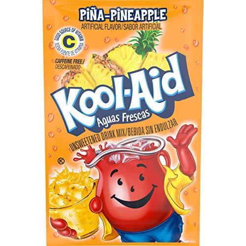Kool-Aid Aguas Frescas Pina Pineapple Flavored Unsweetened Caffe...