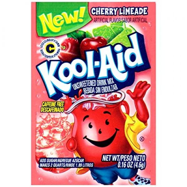 Kool-Aid Cherry Limeade Flavored Unsweetened Caffeine Free Powde...