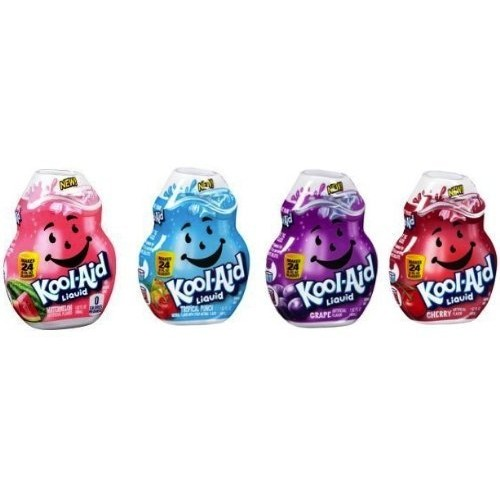 Kool-Aid Liquid Drink Mix; Cherry, Tropical Punch, Grape & Water...