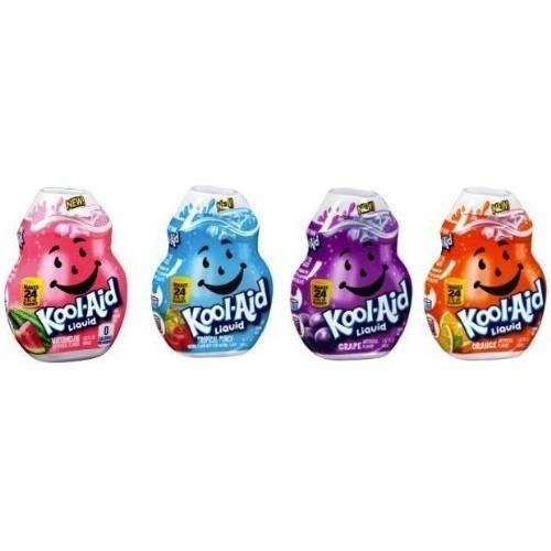 Kool-Aid Liquid Drink Mix; Orange, Tropical Punch, Grape & Water...