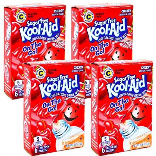 Kool-Aid Sugar Free Low Calorie Drink Mix 6 easy open packets P...