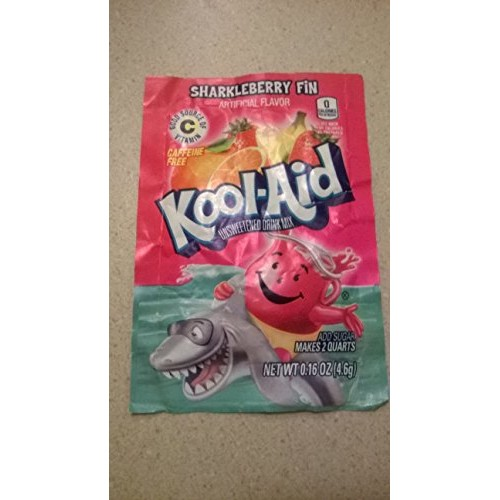 Sharkleberry Fin Kool Aid, Powdered Drink Mix, Package of 48