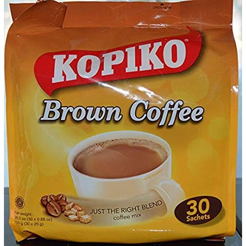 Kopiko Instant 3 In 1 Brown Coffee - 30 Packets/Bag 26.5 Oz